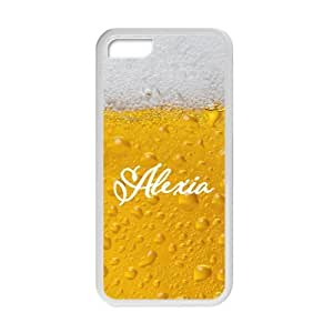 meilz aiaiYellow White Beer Bubble Name Customization Design Personality Silicon Rubber Cover Case For Iphone 5C By meilz aiai