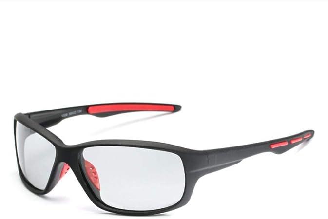 FRGTHYJ Gafas de Sol polarizadas Lentes Deportivas Que cambian de Color Gafas polarizadas fotocromáticas Bicicleta MTB Montar Pesca Ciclismo Gafas de Sol Gafas de Conductor Rojo: Amazon.es: Hogar