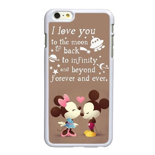 Disney Mickey Mouse und Minnie Mouse iPhone 6 6S 4,7-Zoll-Handy-Fall hülle weiß N9A0SSEIGR