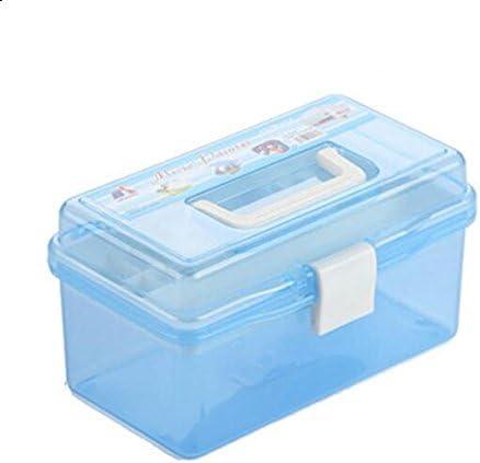 Linyena caja herramientas de plástico para caja de almacenaje (Azul): Amazon.es: Hogar