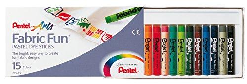 Pentel GmbH PTS15 - Stoffmalkreide 15er Kunststoffetui