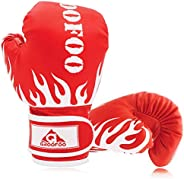 GROOFOO Boxing Gloves 4oz 6oz 8oz Punching Gloves for Youth Kids Training Gloves for Kickboxing, Sparring Trai