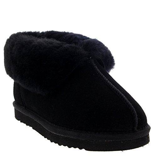 Foderato Pantofola Pecora Camoscio Nero Di Donna Pelliccia Australiana wvHqSaIO
