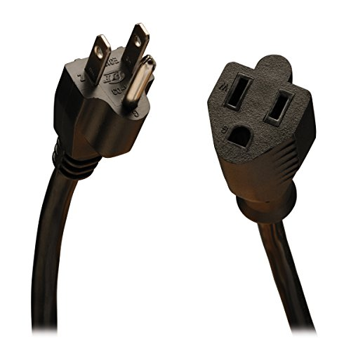 Tripp Lite Standard Power Extension Cord 10A, 18AWG (NEMA 5-15P to NEMA 5-15R) 15-ft.(P022-015) ()