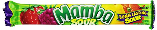 Mamba Sour Fruit Chews, 2.65-Ounce Packages (Pack of 24)