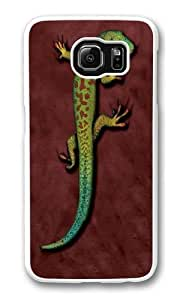 Bright Eyes Lizard Custom Samsung Galaxy S6/Samsung S6 Case Cover Polycarbonate White
