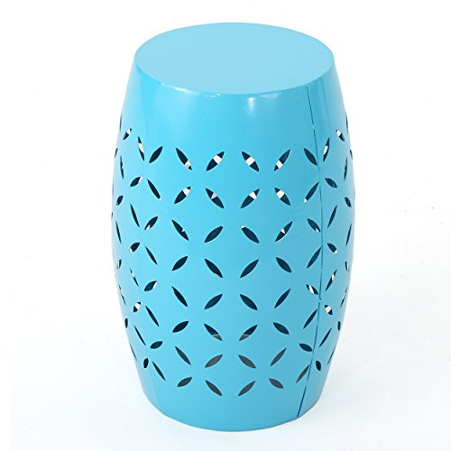 Lilly Outdoor 12 Blue Iron Side Table ()