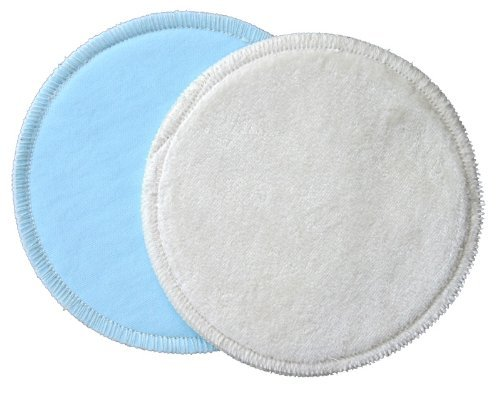 bamboobies Washable Reusable Overnight Nursing Pads with Leak-Proof Backing for Breastfeeding, Ultra Absorbent, 4 Count