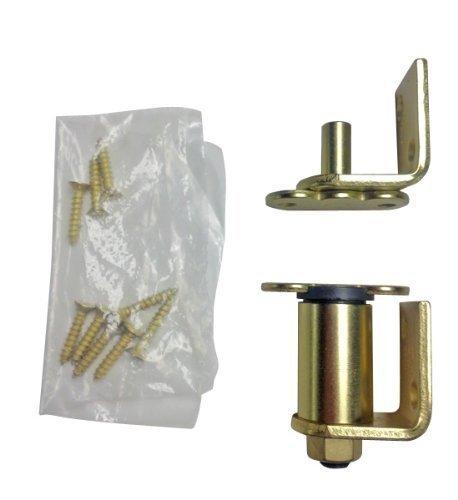 Bommer 7512 Oil Rubbed Bronze/ Stain Chrome / Satin Brass Gravity Pivot Hinge for Louver / Swing / Swinging / Cafe Doors (Satin Brass)