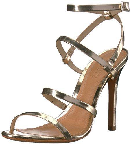 Schutz Women's Ilara Heeled Sandal, Platina, 8 M US by Schutz