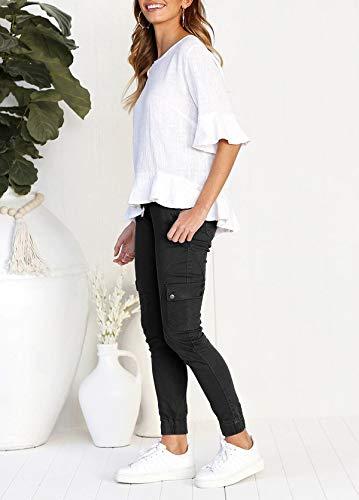 Running Moda Fr Lungo da Pantaloni Fox ulein Sportivo Nero Casual Donne Pants Sottile Uw4waqT