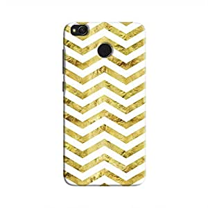 Cover It Up - Gold White Tri Stripes Redmi 4 Hard case