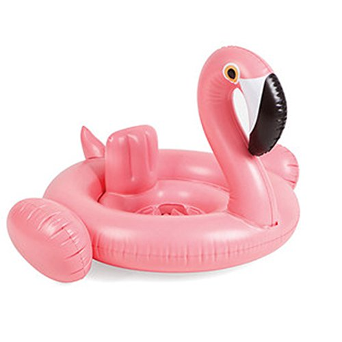 Amxylife Pink Flamingo Baby Swim Ride-On Float