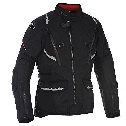 (Oxford Montreal 3.0 Mens Waterproof Textile Motorcycle Jacket - Tech Black M)