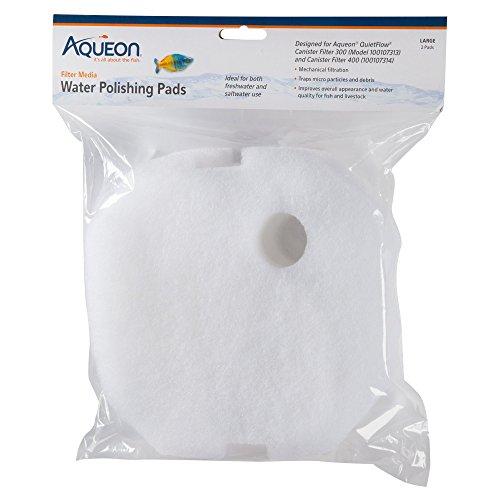 Aqueon QuietFlow Polishing Pad, Medium/Large, Pack of 2