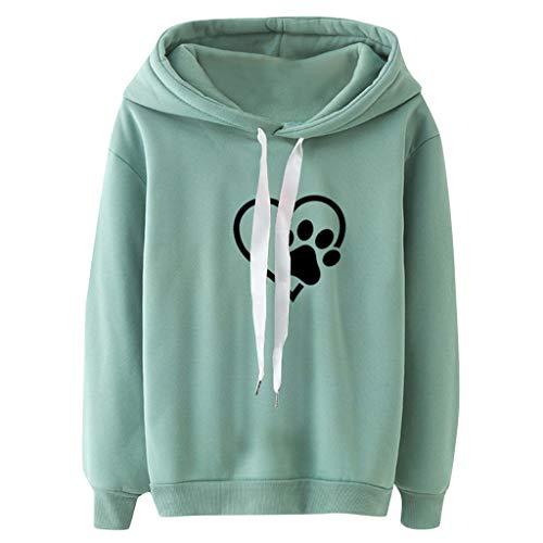 DRAGONHOO 2020 Sweatshirts for Women Long Sleeve Casual Hooded Sweatshirt Pullover Top Blouse