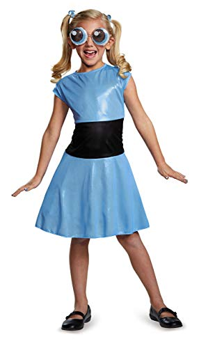 Bubbles Classic Powerpuff Girls Cartoon Network Costume, Medium/7-8]()