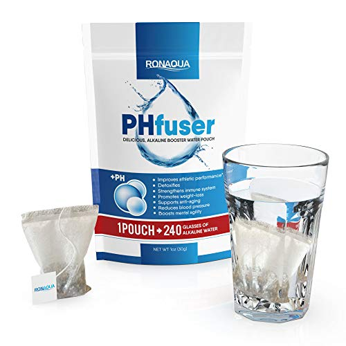 (PHfuser Alkaline Water Filtration Pouch for your bottle, jar, pot, coffee/tea cup, jug, pitcher, container - Filter Purification System for Clean, Healthy, Safe, Anti-Oxidant, Anti-Aging water (1Pack))