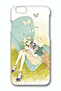 Anime Girl Cute Hard Cover For iPhone 4 4s PC 3D Cases