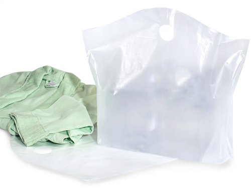 Wave Top Reusable Bags - Clear Wave Top Plastic Bags Large 22x18x8'' 25% Recycled 2.25 mil (250 bags) - WRAPS-S35FR by Miller Supply Inc