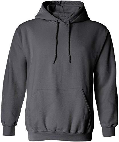 Joe's USA - Big Mens Size Extra Large Hoodie Sweatshirts-XL in Charcoal