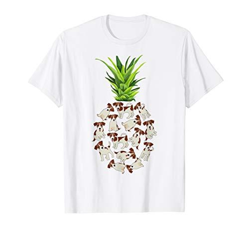Pineapple Jack Russell T-shirt Summer Shirt Birthday Gift