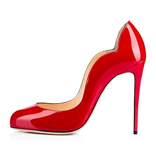 Soles Femmes Taille uBeauty Escarpins Grande Talon Chaussures Rouge Aiguille Stiletto Rouge wIw6F5qx