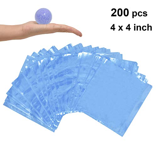 LazyMe Shrink Wrap Bags, 4 x 4 inch, for Handmade Soaps Bath Bombs, Art Crafts and DIY Crafts (200Pcs)