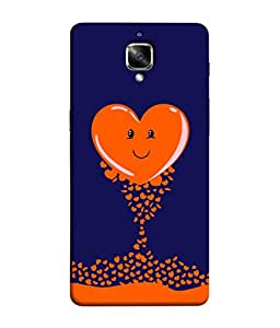 ColorKing OnePlus 3T Case Shell Cover - Heart 001 Multi Color