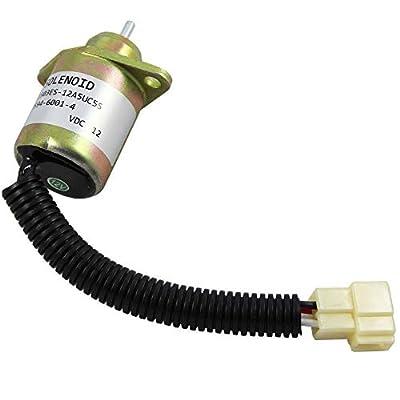 Fuel Shut-Off Solenoid for Kubota Woodward Yanmar Synchro Start John Deere Stihl Replaces OE # SA4569T, 17454-60010, 2848A27: Automotive
