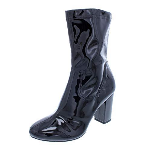 Kenneth Cole New York Womens Alyssa Patent Ankle Boots Black 8 Medium (B,M)