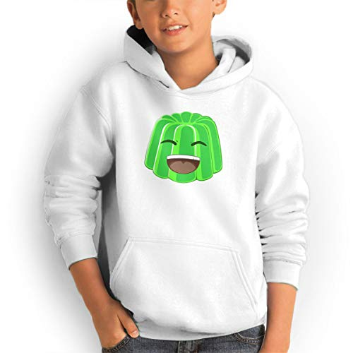 3d9002f974ba30 AOOIUU JellyYT Logo Youth Teen Pullover Hooded Pocket Sweater for Boys and  Girls White