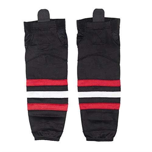 COLDINDOOR Hockey Socks Adult, Men Dry Fit Mesh Ice Hockey Socks Senior L Black