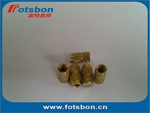 Ochoos IBB-256-6 Blind Threaded Insert,Molded-in Threaded Inserts,Brass,Nature,PEM Standard,