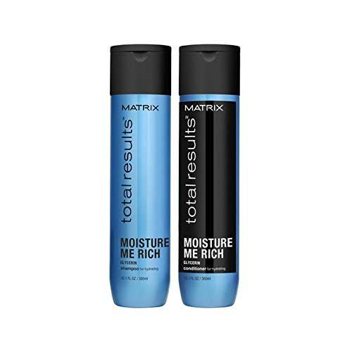 行列の合計の結果は、豊かなシャンプーとコンディショナー(300ミリリットル)私を湿気 x4 - Matrix Total Results Moisture Me Rich Shampoo And Conditioner (300ml) (Pack of 4) [並行輸入品] B071V7CLTB