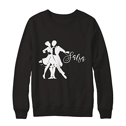 Teely Shop Men's Woman's Salsa Dancer Costume Sport Lover Gildan - Pullover Sweatshirt/Black/3XL
