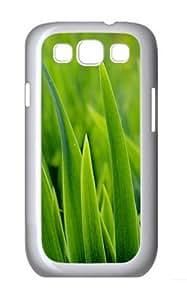 Green Grass Closeup Custom Hard Back Case Samsung Galaxy S3 SIII I9300 Case Cover - Polycarbonate - White
