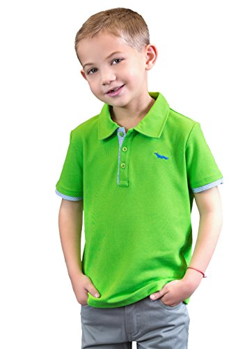 - Dakomoda Toddler Boys' Lime Green Pique Polo Shirt - 100% Pima Cotton Short Sleeve 4T