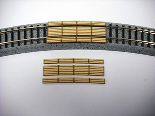 Curved Double Radius - Train Time Laser N Scale LASER CUT CUSTOM 22 Inch Radius Curved Double Lane Crossing 2 Pack