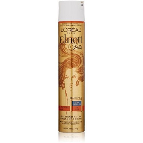 L'Oreal Elnett Satin Hairspray Extra Strong Hold Color-Treated Hair 11 oz (Pack of 8)