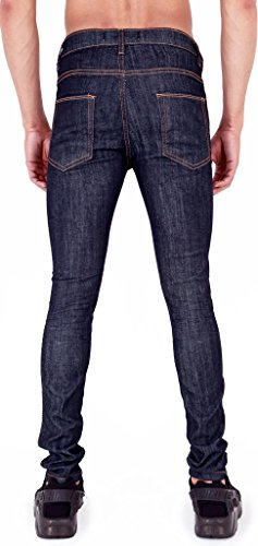 Arrested Development Herren Skinny Jeanshose Blau Raw 44