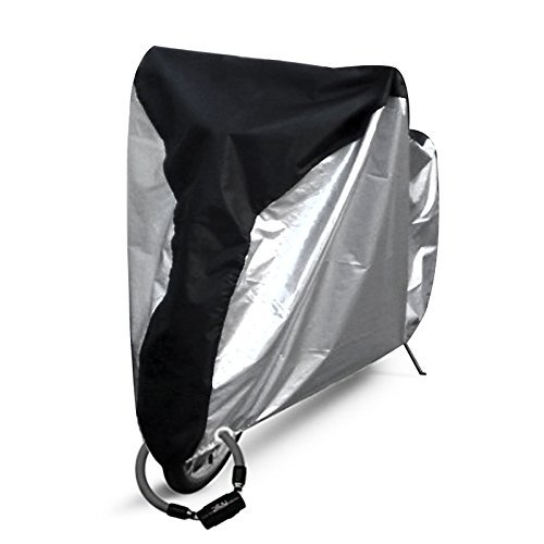 Ohuhu Bike Cover Waterproof Outdoor Bicycle Cover For Mountain and Road Bikes (Moped Cover)