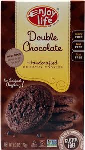 Enjoy Life Handcrafted Crunchy Cookies Gluten Free Double Chocolate -- 6.3 oz pack of 3