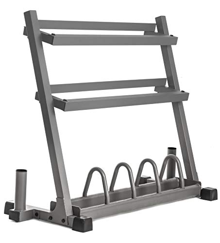 XMark Dumbbell Rack Olympic Plate Weight Rack with Olympic Bar Storage, Store Dumbbells, Plate Weights, and Olympic Bars. Rack, Rack Plus Dumbbells, Or Rack Plus Dumbbells and Bench – DiZiSports Store