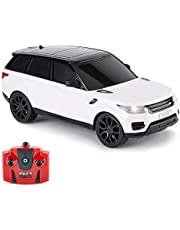 CMJ RC Cars CMJ RC CarsTM Remote Car 1:24 Scale with Working LED Lights, Radio Controlled Supercar (Range Rover Sport White)