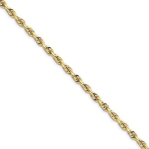 10k Yellow Gold 5.0mm Quadruple Rope Bracelet 8inch by Diamond2deal