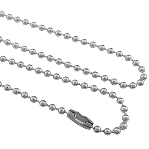 - COIRIS 20PCS 2.4MM 18'' Length Stainless Steel Ball Chain Necklace With Connector Clasp (XL-1023-A18)