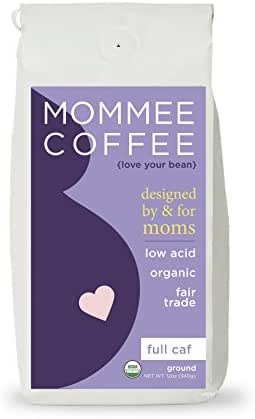 Mommee Coffee - Full Caff, Low Acid Coffee | Ground, Organic | Fair Trade, Water Processed - 12oz.