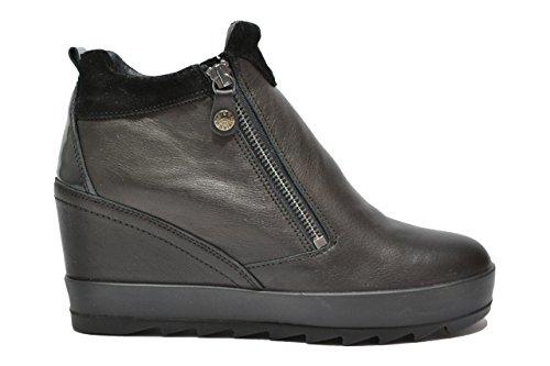 Igi&co Polacchini zeppa nero scarpe donna 67860