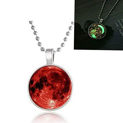 Kaputar Fashion Women Glow in The Dark Luminous Charm Moon Pendant Necklace Jewelry Gift | Model NCKLCS - 19004 |